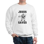 Jesus Saves - Hockey 1 Sweatshirt