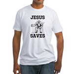 Jesus Saves - Hockey 1 Fitted T-Shirt