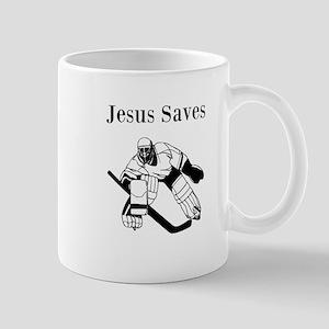 Jesus Saves - Hockey 3 Mug