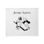 Jesus Saves - Hockey 3 Throw Blanket