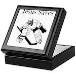 Jesus Saves - Hockey 3 Keepsake Box