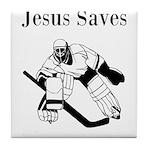 Jesus Saves - Hockey 3 Tile Coaster