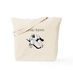 Jesus Saves - Hockey 3 Tote Bag