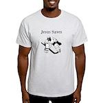 Jesus Saves - Hockey 3 Light T-Shirt