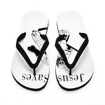 Jesus Saves - Hockey 3 Flip Flops