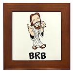 Jesus BRB Framed Tile