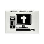 Jesus Saves Often Rectangle Magnet (100 pack)