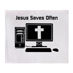 Jesus Saves Often Throw Blanket