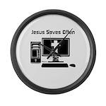 Jesus Saves Often Large Wall Clock