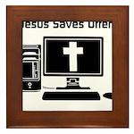 Jesus Saves Often Framed Tile