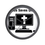 Jesus Saves Often Wall Clock