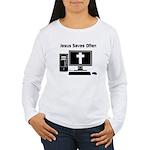 Jesus Saves Often Women's Long Sleeve T-Shirt