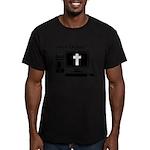 Jesus Saves Often Men's Fitted T-Shirt (dark)