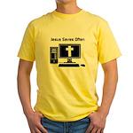 Jesus Saves Often Yellow T-Shirt