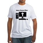 Jesus Saves Often Fitted T-Shirt