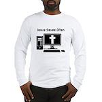 Jesus Saves Often Long Sleeve T-Shirt