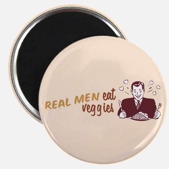 Real Men Eat Veggies Magnet