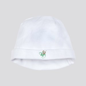 So Vegan Green Brown baby hat