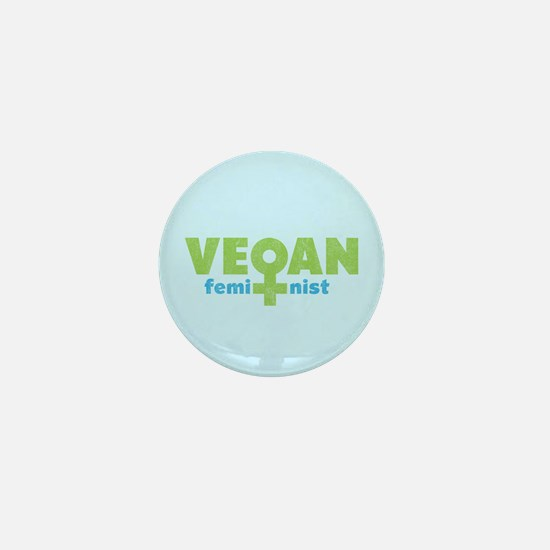 Vegan Feminist Mini Button