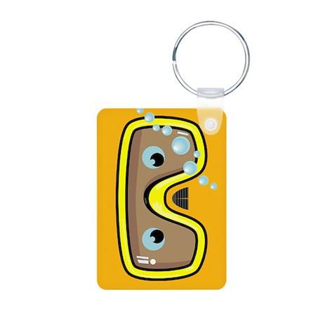 Yellow Goggles Aluminum Photo Keychain