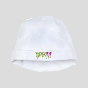 Vegan Rocker Lime and Pink baby hat