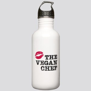 Kiss the Vegan Chef Stainless Water Bottle 1.0L