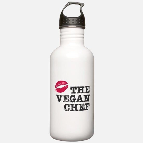 Kiss the Vegan Chef Water Bottle
