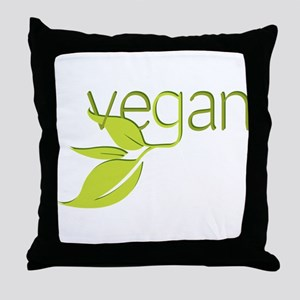 Leafy Vegan Throw Pillow