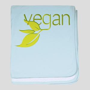 Leafy Vegan baby blanket