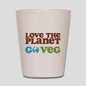 Love the Planet Go Veg Shot Glass