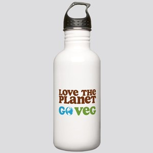 Love the Planet Go Veg Stainless Water Bottle 1.0L