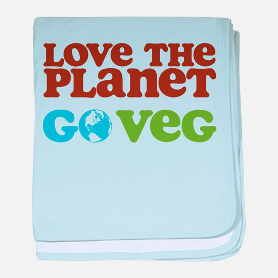 Love the Planet Go Veg baby blanket