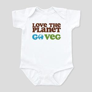 Love the Planet Go Veg Infant Bodysuit