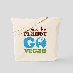 Love the Planet Go Vegan Tote Bag