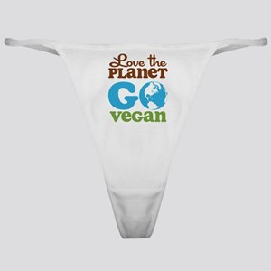 Love the Planet Go Vegan Classic Thong