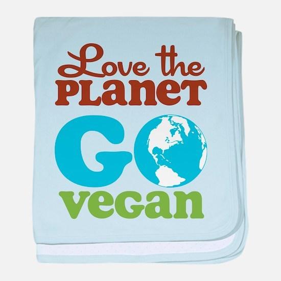 Love the Planet Go Vegan baby blanket