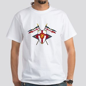 Medieval Shield Graphic White T-Shirt