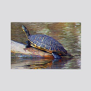 THE TURTLE Rectangle Magnet