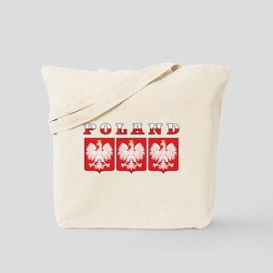 Poland Flag Eagle Shields Tote Bag