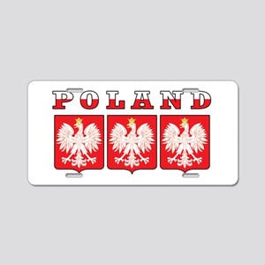 Poland Flag Eagle Shields Aluminum License Plate
