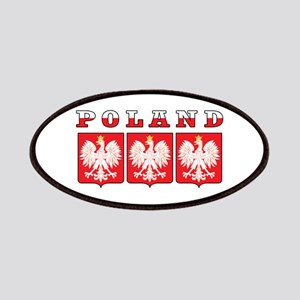 Poland Flag Eagle Shields Patches