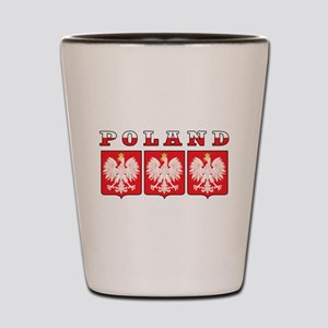 Poland Flag Eagle Shields Shot Glass