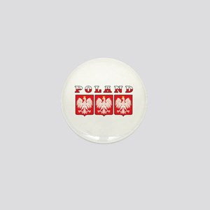 Poland Flag Eagle Shields Mini Button