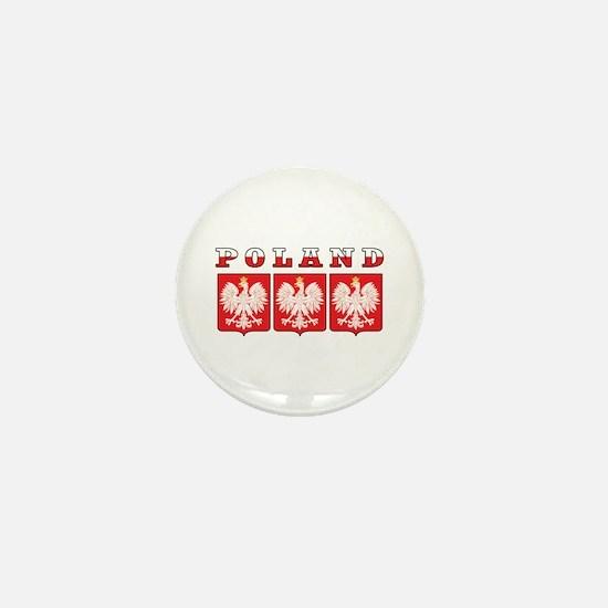 Poland Flag Eagle Shields Mini Button