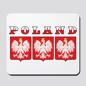 Poland Flag Eagle Shields Mousepad