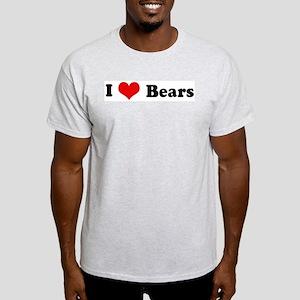 I Love Bears Ash Grey T-Shirt
