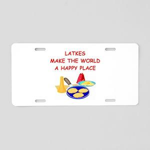 latkes Aluminum License Plate