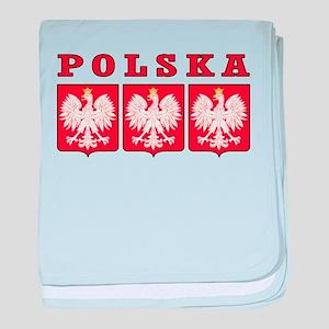 Polska Eagle Shields baby blanket