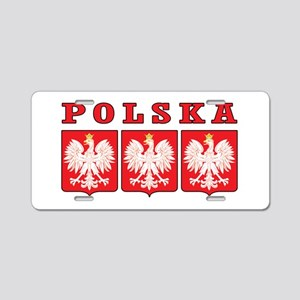 Polska Eagle Shields Aluminum License Plate