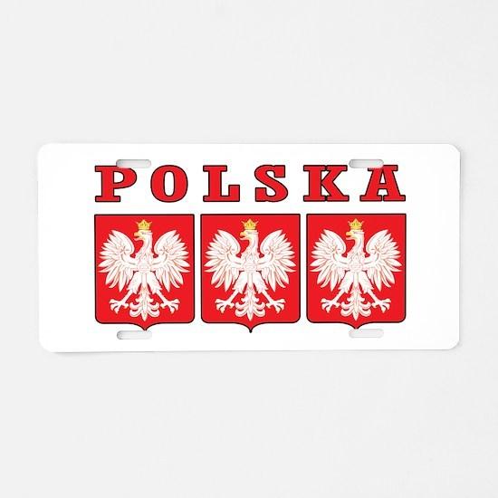 Polska Eagle Shields Aluminum License Plate